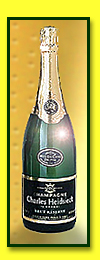 A bottle of Hiedsick Champagne