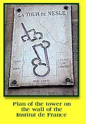 Plaque showing plan of Tower of Nesle