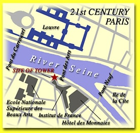 Map of 21st century Paris