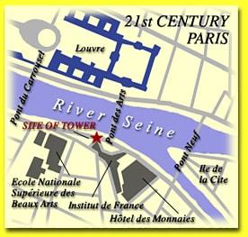 Map of 21st century Paris